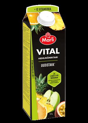 Marli Vital Hedelmänektari + 10 vitamiinia ei lisättyä sokeria 1 L