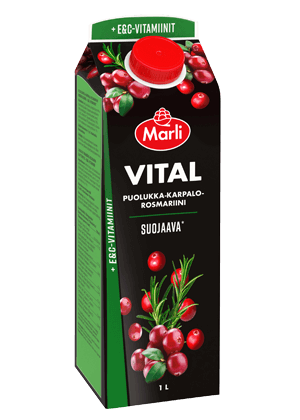 Marli Vital Puolukka-karpalo-rosmariini + E&C-vitamiinit 1 L
