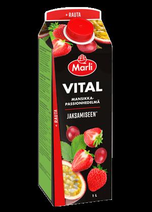 Marli Vital mansikka-passion-rypäle + rauta mehujuoma 1 L