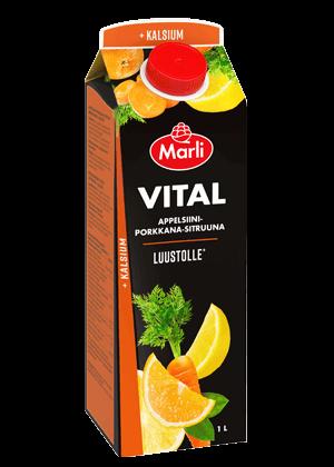 Marli Vital Appelsiini-porkkana-sitruunamehujuoma + kalsium 1L