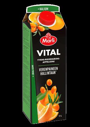 Marli Vital Tyrnimarja-mandariini-appelsiini mehujuoma+ kalium 1L