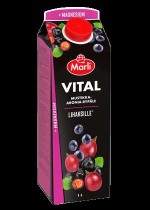 Marli Vital Mustikka-aronia-rypälemehujuoma + Magnesium 1L