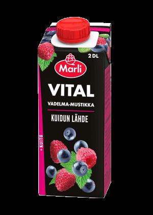 Marli Vital Vadelma-mustikkajuoma + kuitua 2 dl